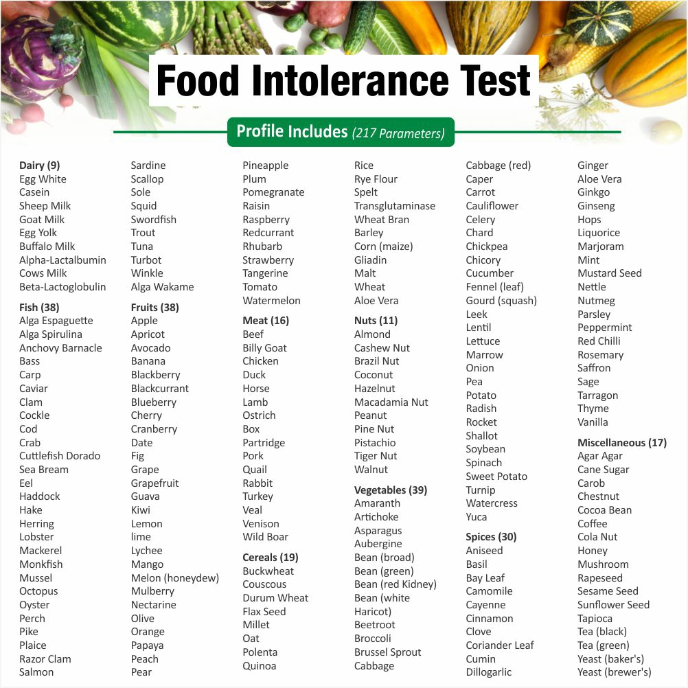 Thyrocare FOOD INTOLERANCE PROFILE @Rs.5699 Only | 219 Tests | Thyrocare Packages