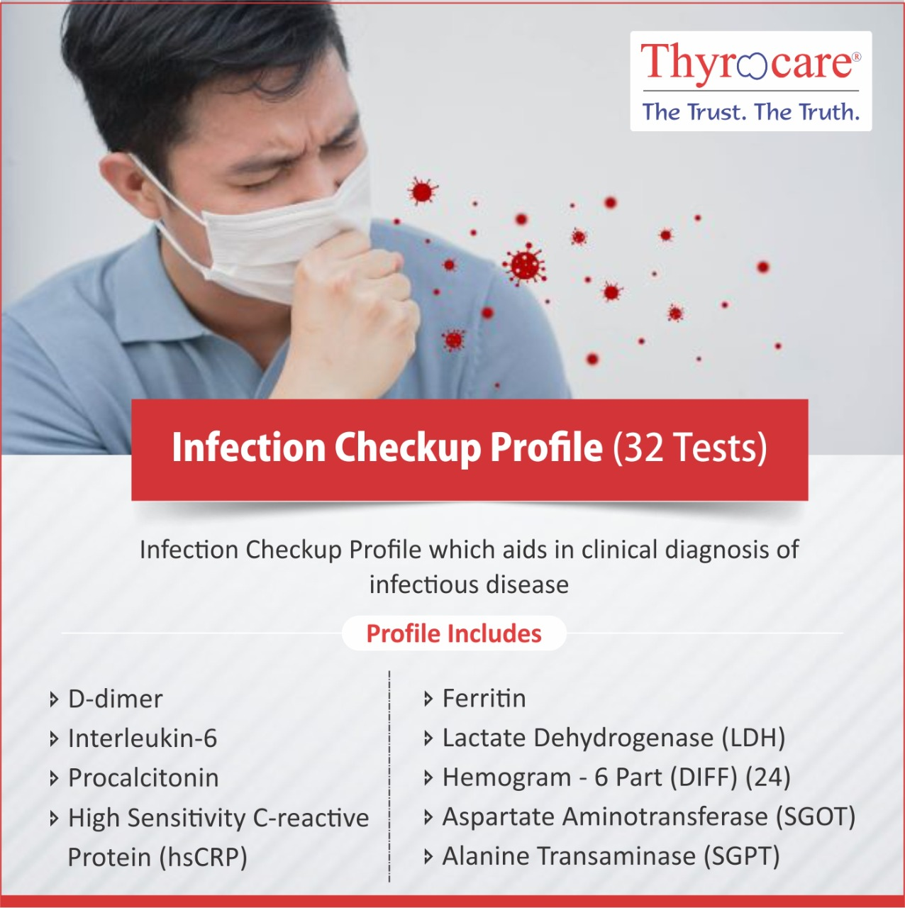 Thyrocare INFECTION CHECKUP PROFILE @Rs.2290 Only | 32 Tests | Thyrocare Packages