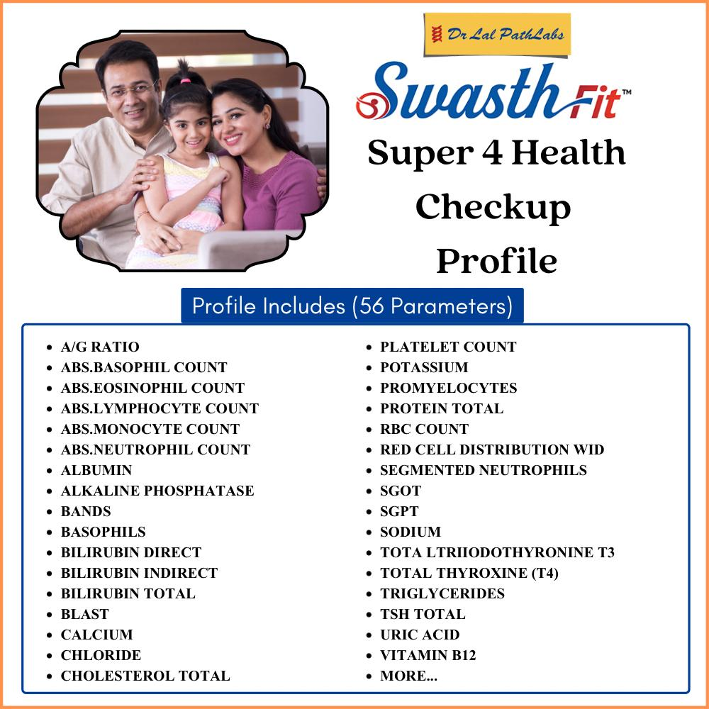 SWASTH SUPER -4 in Bengaluru @₹2950 Only | Dr Lal PathLabs